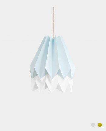 Papierlampe BARRA BLUE
