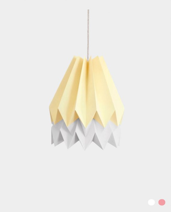 Papierlampe BARRA YELLOW