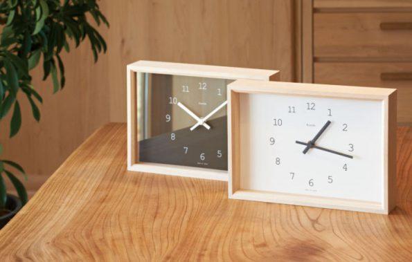 holz tischuhr kaede jetzt online kaufen. Black Bedroom Furniture Sets. Home Design Ideas