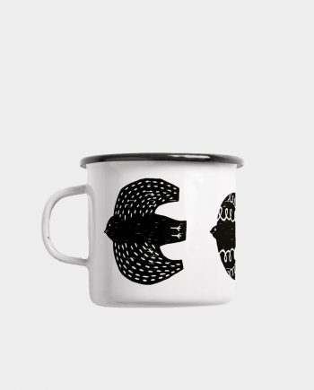 Emaille Tasse BIRDS