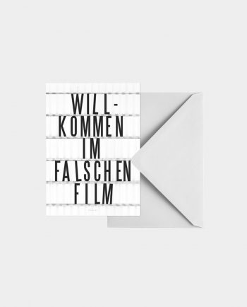 Postkarte FALSCHER FILM