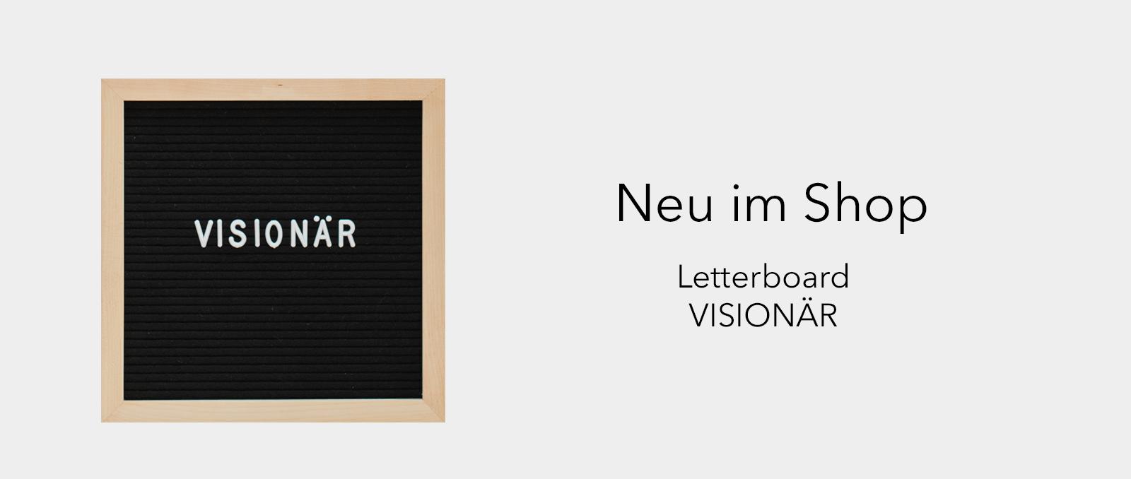 Letterboard VISIONÄR