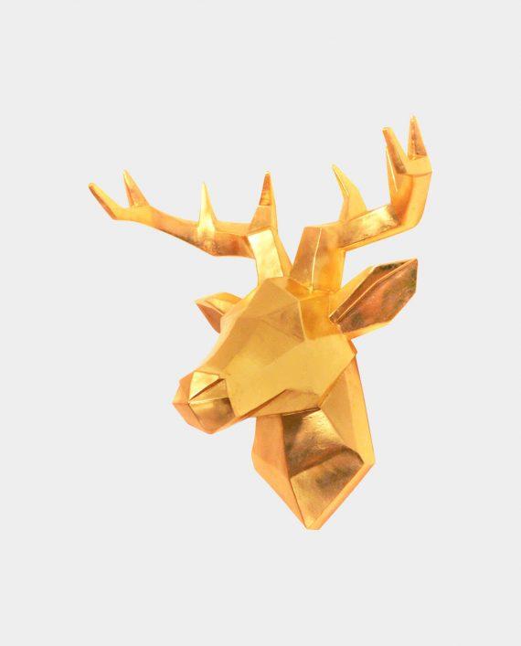 Wandfigur DEER GOLD