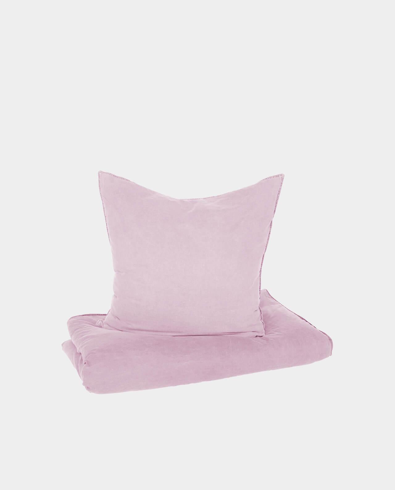 Bettwäsche Vintage Cotton Mit Knöpfen Altrosa Kopie Satamode