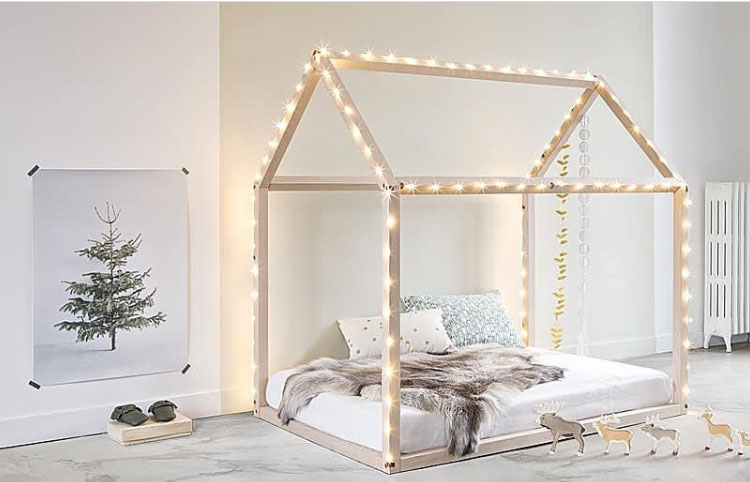 kinderbett haus 90x200 und 70x140 online kaufen satamo. Black Bedroom Furniture Sets. Home Design Ideas