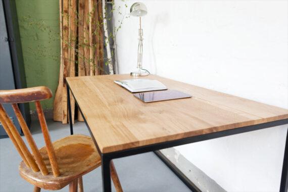 Schreibtisch Industrial Look, Schreibtisch Massivholz Eiche