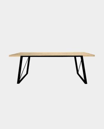 Design Esstisch schwarz esw - Eichentisch - Echtholztisch Eiche